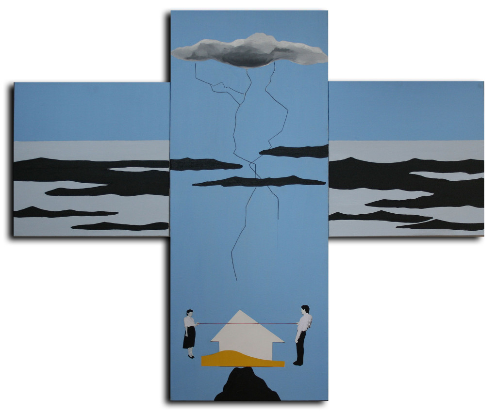 Ailenin imkansizligi, Tuval uzeri karisik teknik, 120x100 cm, 2015
