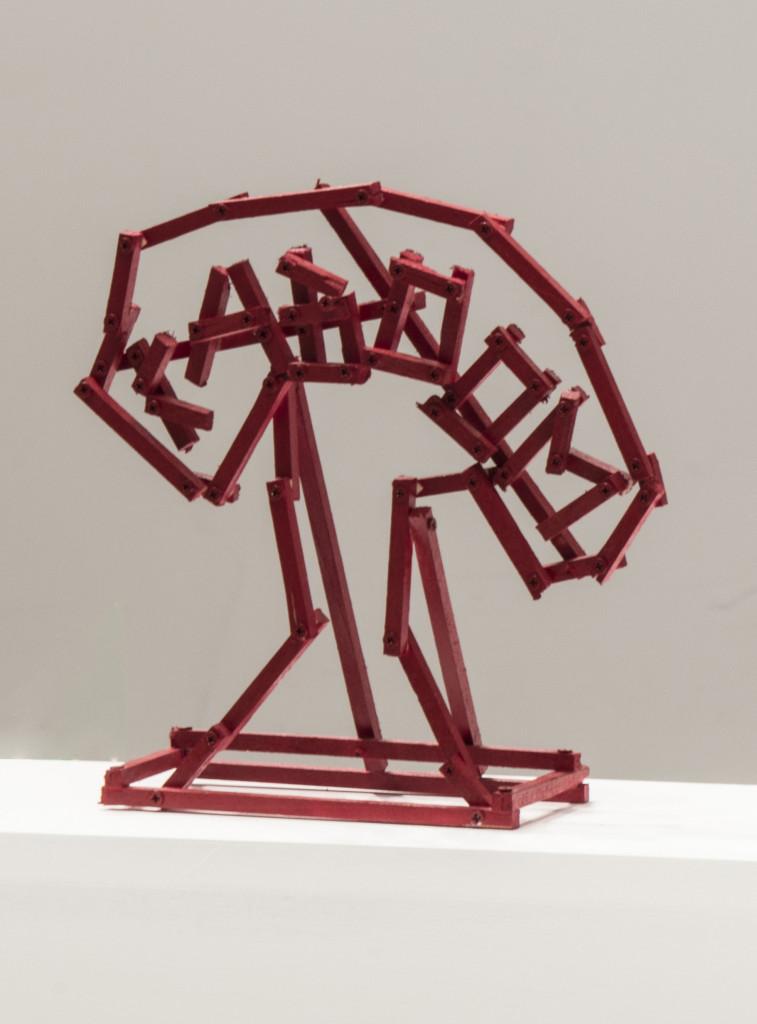 Olaf Breuning - 'Kaboom', 2015,wood,paint,23cmx8cmx26cm